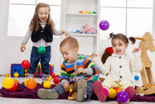 Kids Playing Colorful Balls